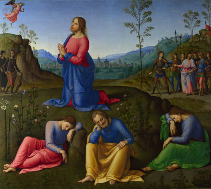 Attributed to Lo Spagna: 'The Agony in the Garden'
