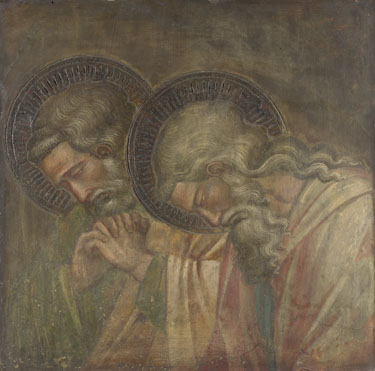 Spinello Aretino: 'Two Haloed Mourners'