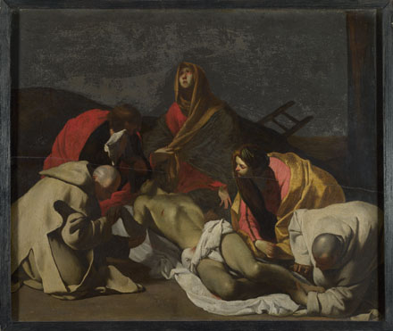 After Massimo Stanzione: 'Monks and Holy Women mourning over the Dead Christ'
