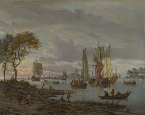 Abraham Storck: 'A River View'