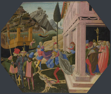 Attributed to Zanobi Strozzi: 'The Abduction of Helen'