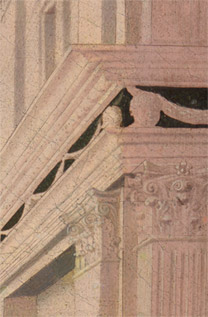 Zanobbi Strozzi: Detail of fluted Corinthian pilaster in 'The Abduction of Helen'.tail-corner-third.jpg