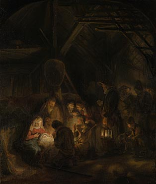 Studio of Rembrandt: 'The Adoration of the Shepherds'