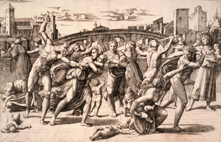 Raimondi print, with a Raphael drawing