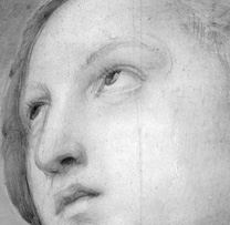 IRR detail of head from Raphael, Saint Catherine
