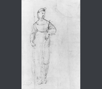 Sketch of full-length composition for Raphael, Saint Catherine