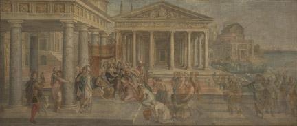 Lambert Sustris: 'The Queen of Sheba before King Solomon'.