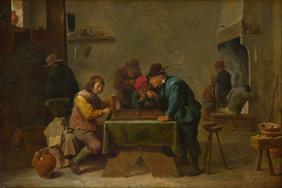 Attributed to David Teniers the Younger: 'Backgammon Players'