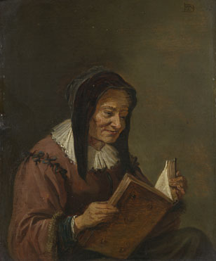 Imitator of David Teniers the Younger: 'An Old Woman Reading'