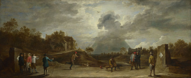 David Teniers the Younger: 'Peasants at Archery'