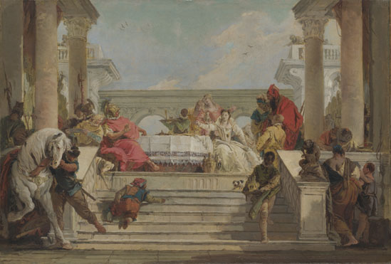Giovanni Battista Tiepolo: 'The Banquet of Cleopatra'