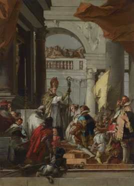 Giovanni Domenico Tiepolo: 'The Marriage of Frederick Barbarossa'