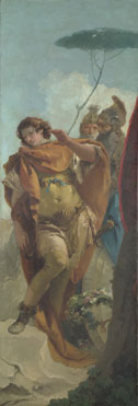 Giovanni Battista Tiepolo: 'Rinaldo turning in Shame from the Magic Shield'