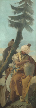 Giovanni Battista Tiepolo: 'Two Orientals seated under a Tree'