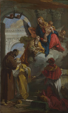 Giovanni Battista Tiepolo: 'The Virgin and Child appearing to a Group of Saints'