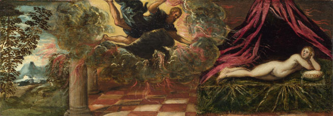 Attributed to Jacopo Tintoretto: 'Jupiter and Semele'