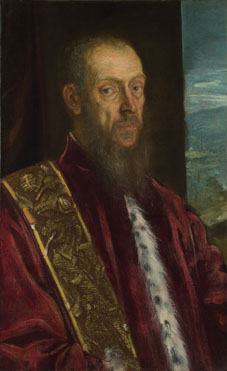 Jacopo Tintoretto: 'Portrait of Vincenzo Morosini'