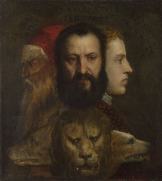 Titian and workshop: 'An Allegory of Prudence'