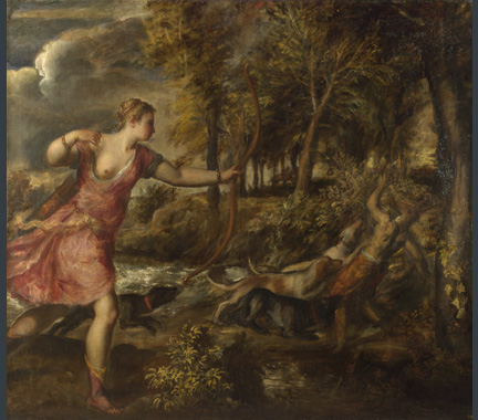 Titian, 'The Death of Actaeon', about 1559-75