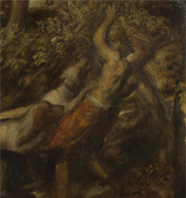 Detail from Titian, 'The Death of Actaeon', about 1559-75