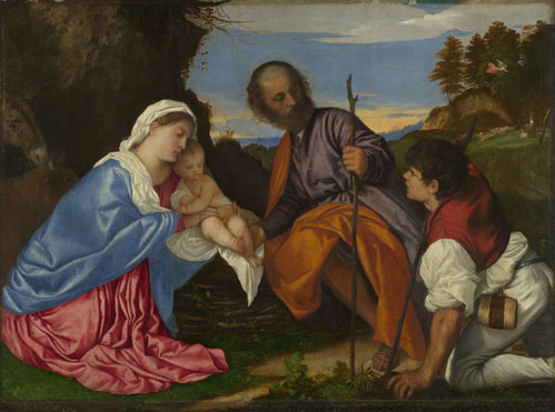 Titian: 'The Holy Family with a Shepherd'