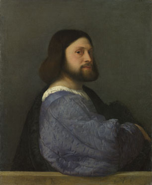 Titian: 'A Man with a Quilted Sleeve'