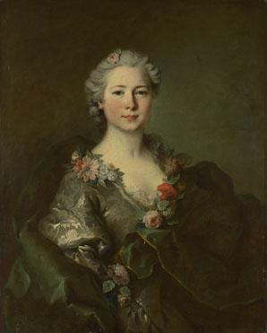 Louis Tocqué: 'Portrait of Mademoiselle de Coislin (?)'