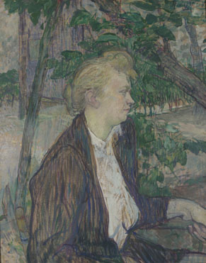 Henri de Toulouse-Lautrec: 'Woman seated in a Garden'