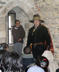 Tower of London, costumed workshop