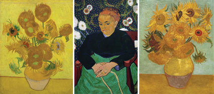 Van Gogh imagined hanging two of his Sunflowers either sides of the portrait of his friend Madame Roulin