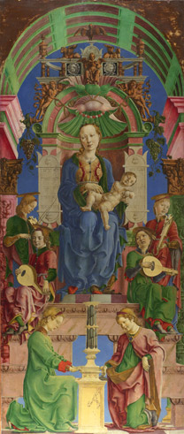 Cosimo Tura: 'The Virgin and Child Enthroned'.