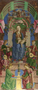 Cosimo Tura: 'The Virgin and Child Enthroned'