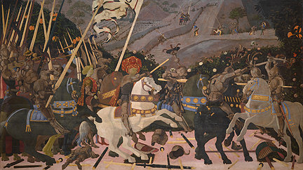 Uccello, 'The Battle of San Romano', probably about 1438-40