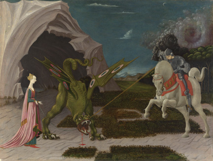 Uccello, 'Saint George and the Dragon', about 1470