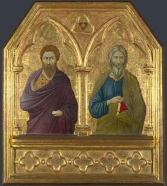 Ugolino di Nerio: 'Saint Bartholomew and Saint Andrew'