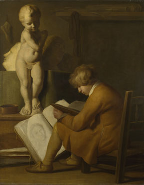After Wallerant Vaillant: 'A Boy seated Drawing'