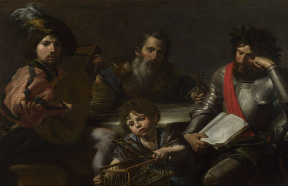 Valentin de Boulogne: 'The Four Ages of Man'