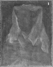 Jan van Eyck: 'Margaret, the Artist's Wife', 1439, X-radiograph