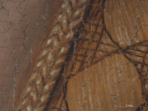 Jan van Eyck, 'Margaret, the Artist's Wife', 1439, photomicrograph of her hair