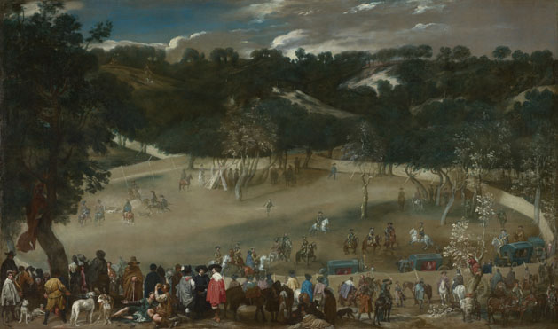 Diego Velázquez: 'Philip IV hunting Wild Boar (La Tela Real)'