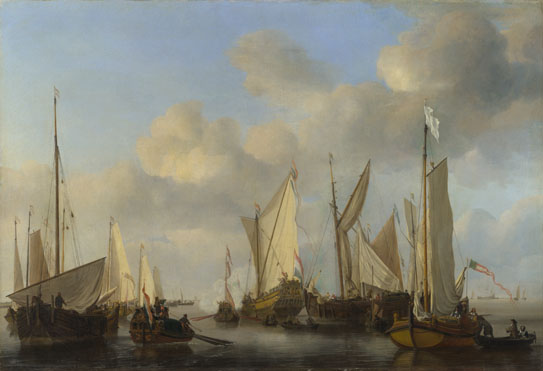 Willem van de Velde: 'A Dutch Yacht saluting'