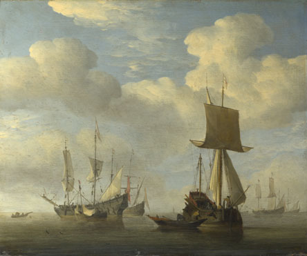 Willem van de Velde: 'An English Vessel and Dutch Ships Becalmed'