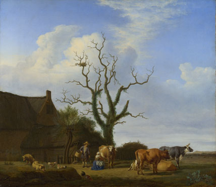 Adriaen van de Velde: 'A Farm with a Dead Tree'
