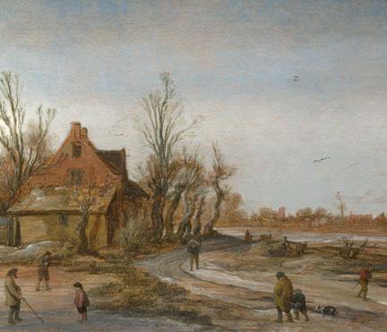 Esaias van de Velde: 'A Winter Landscape'