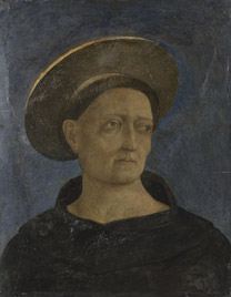 Domenico Veneziano: 'Head of a Tonsured, Beardless Saint'.