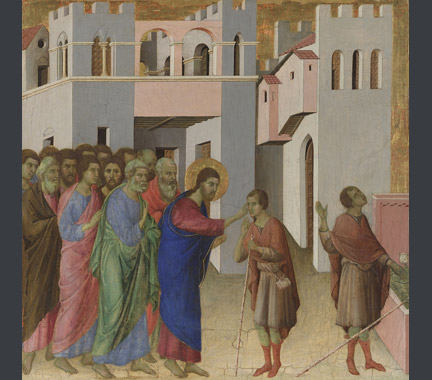 Duccio: 'The Healing of the Man born Blind'.