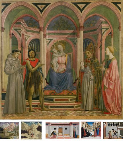 Domenico Veneziano: 'Saint Lucy Altarpiece' reconstruction.