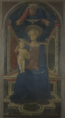 Domenico Veneziano: The Virgin and Child Enthroned'.