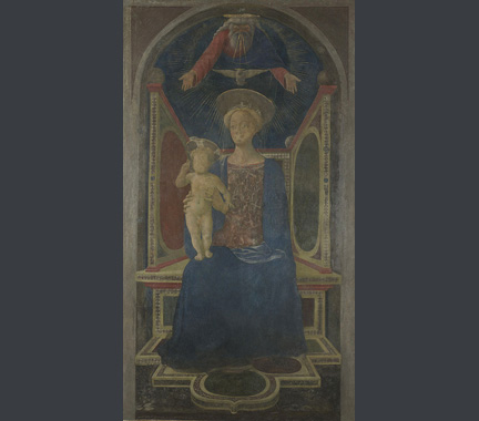 Domenico Veneziano: 'The Virgin and Child Enthroned'.
