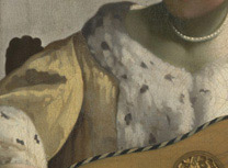 Detail from Johannes Vermeer, 'The Guitar Player', about 1672. On loan from English Heritage, The Iveagh Bequest (Kenwood) © English Heritage